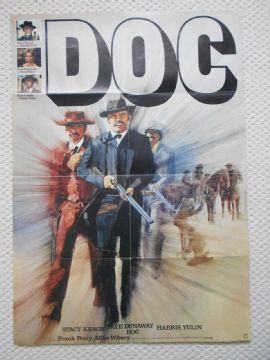 Doc,  German Poster, Stacy Keach, Faye Dunaway, '71